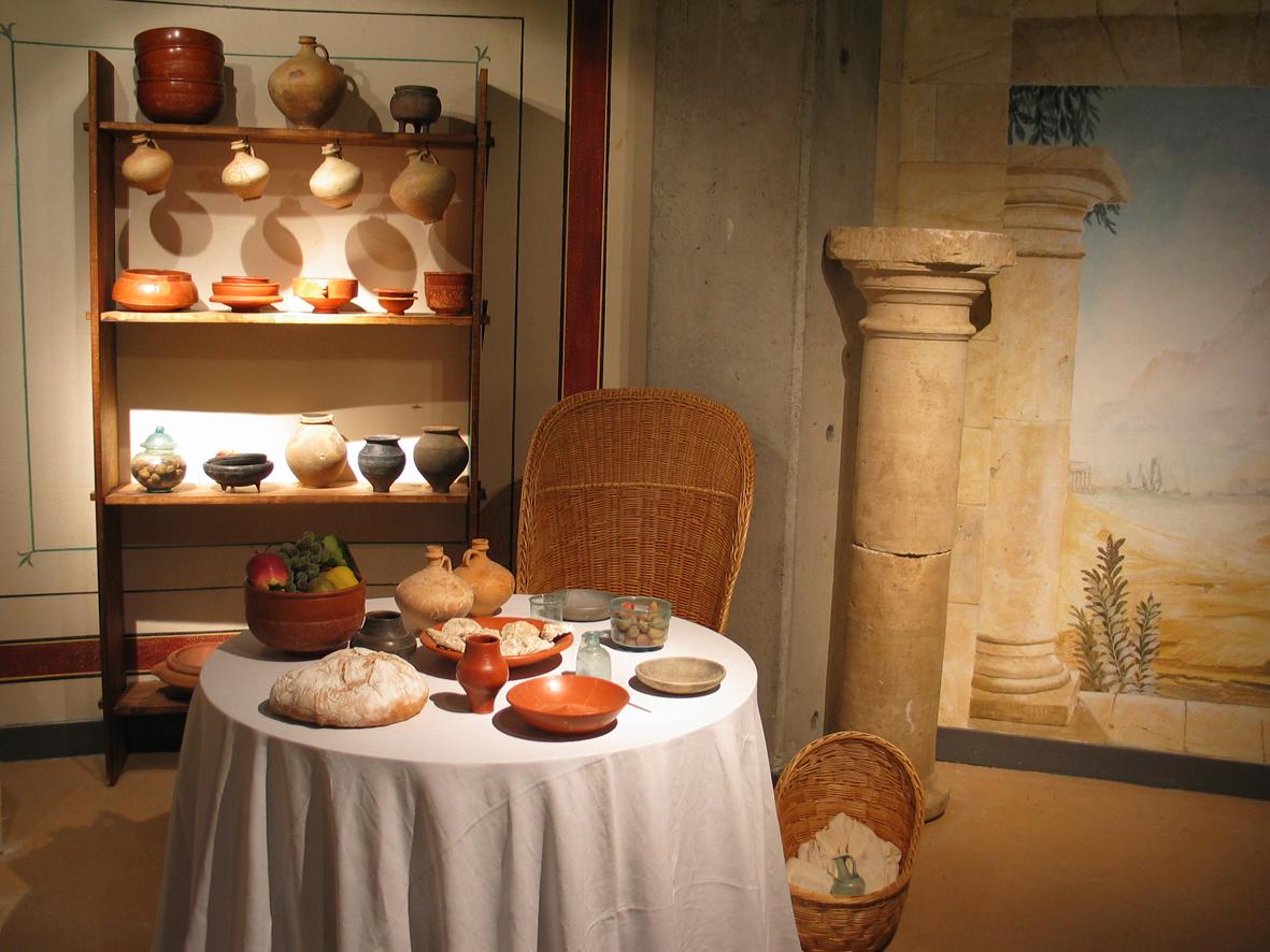 Accueil mus e arch ologique d 39 argentomagus saint - Cuisine romaine antique ...