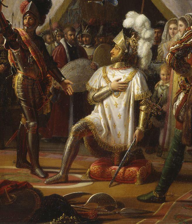 """peinture,tableau,(2008.8.1)""""François Ier armé chevalier"""