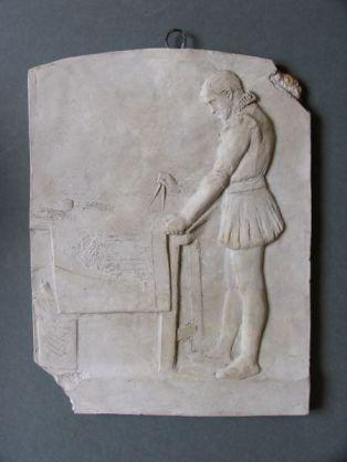 """Oeuvre : Précisions - sculpture,modèle de plaquette,(33.13.82)""""Un architecte du XVIe siècle ..."""