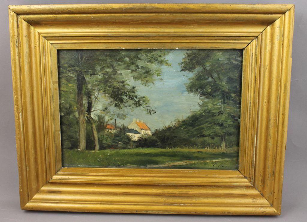 Oeuvre Precisions Peinture Tableau 710 Ile De Creil Titre Inscrit Musee Galle Juillet Maison De La Faience De La Ville De Creil