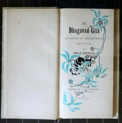 illustration de la Bhagavad Gita d'Emile Burnouf