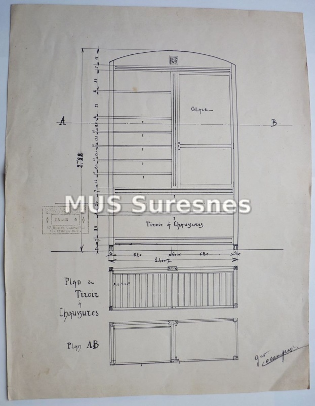 Dessin d'armoire-commode