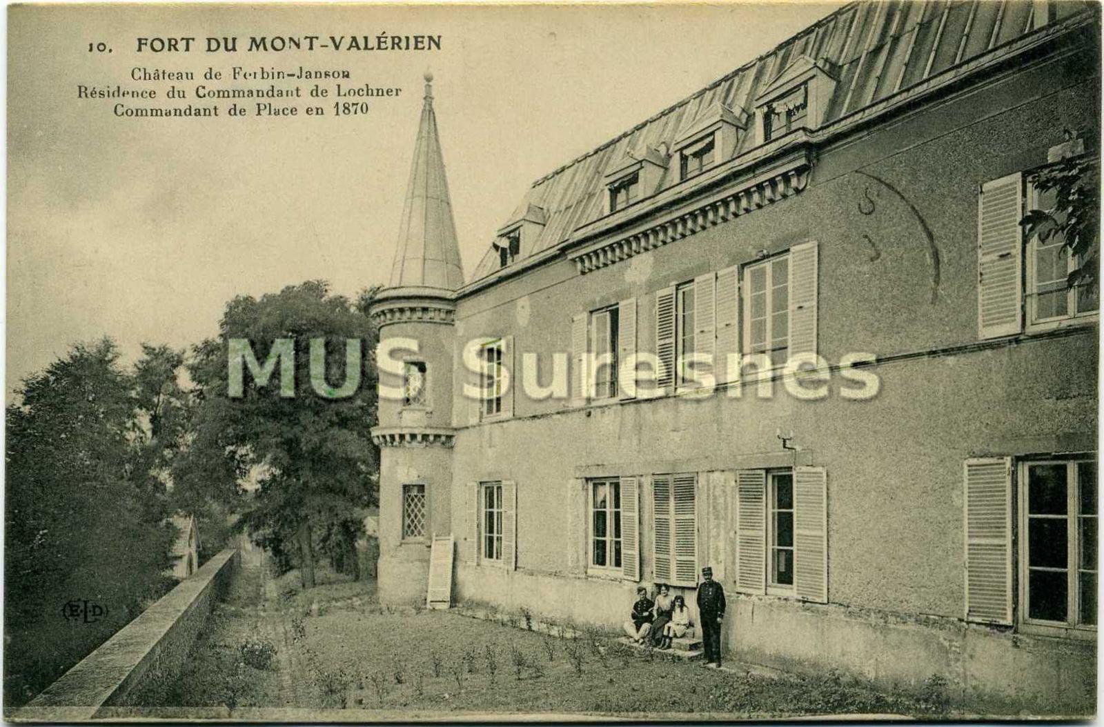 cartepost 2000 1 77 1 jpg 313 4 ko fort du mont valerien ch 226 teau de forbin janson