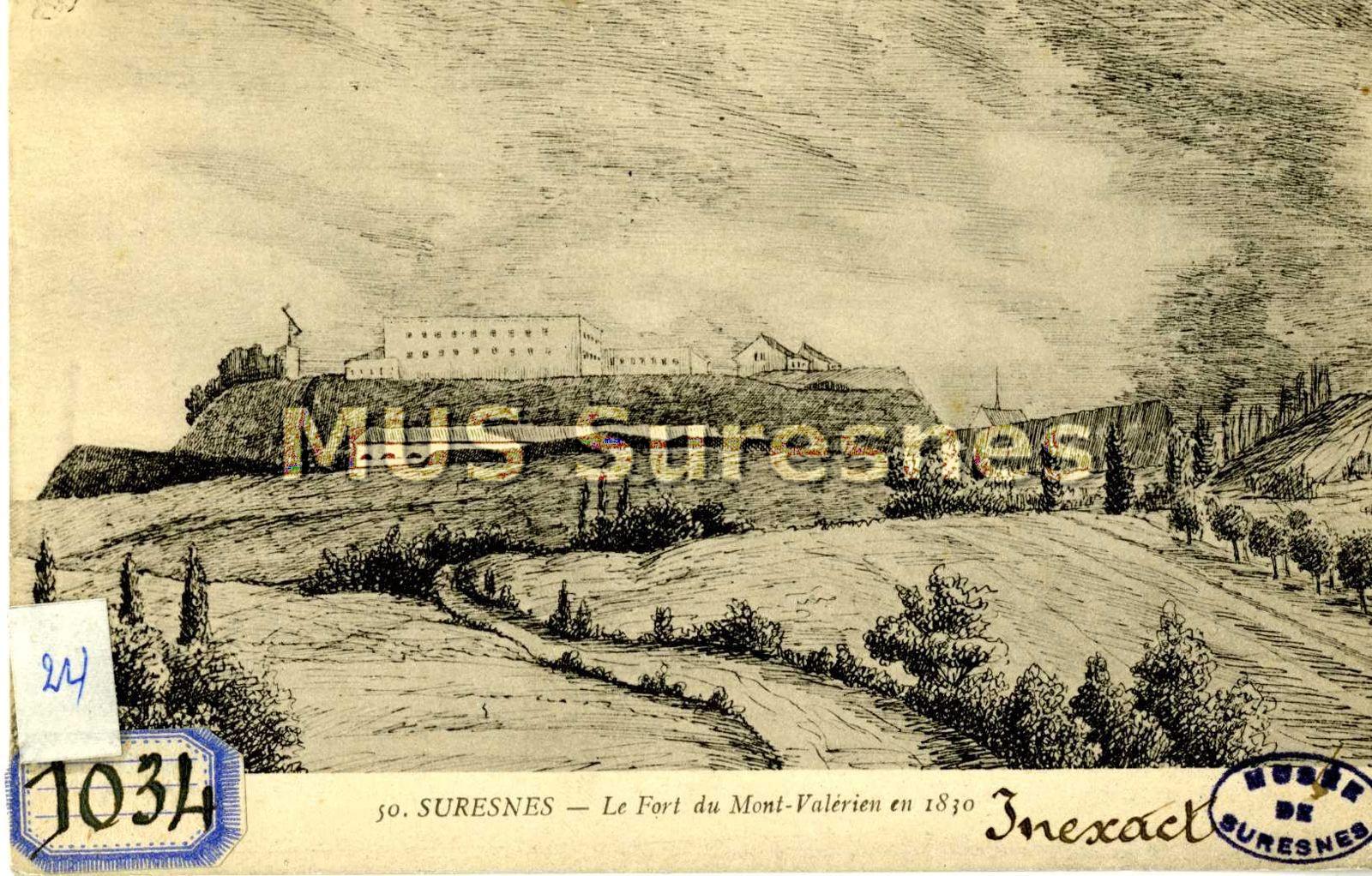 photographie architecture dessin carte postale 997 00 2180 quot suresnes le fort du mont