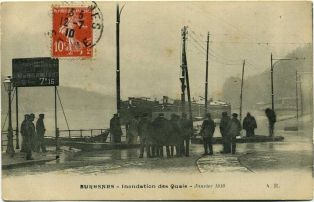 Suresnes - Bords de Seine - Inondations