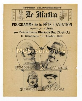 Programme de la Fête de l'Aviation du 12 octobre 1913
