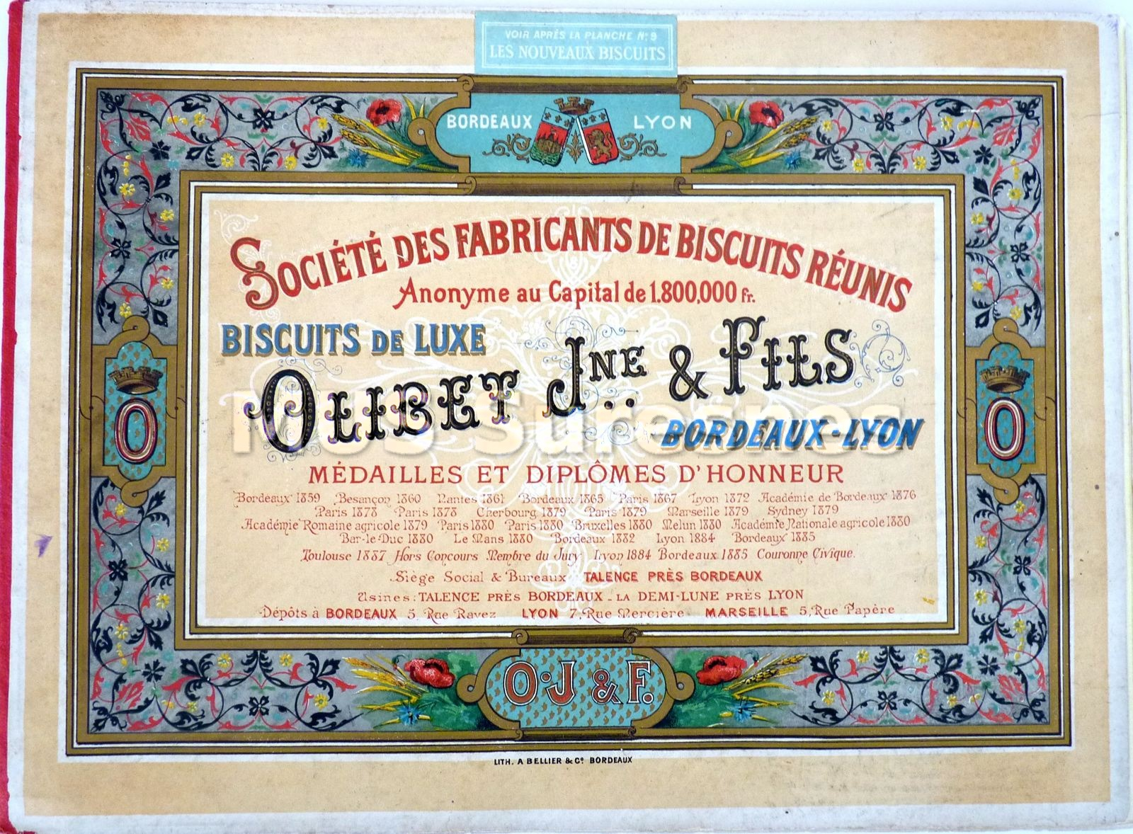 Catalogue des biscuits Olibet