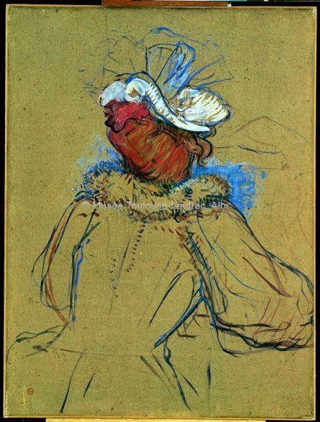 """peinture, """"FEMME ROUSSE VUE DE DOS ( étude pour Au Nouveau Cirque : la clownesse et les cinq ..."""