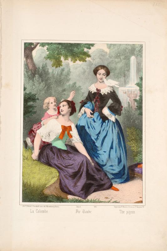 "Lithographie Wentzel ""La colombe"" (vers 1870)"