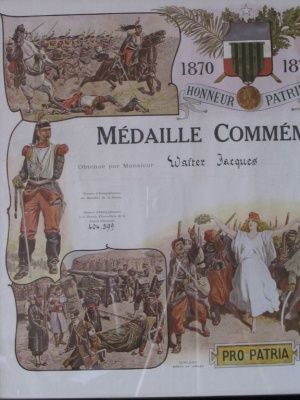 MEDAILLE COMMEMORATIVE 1870-1871