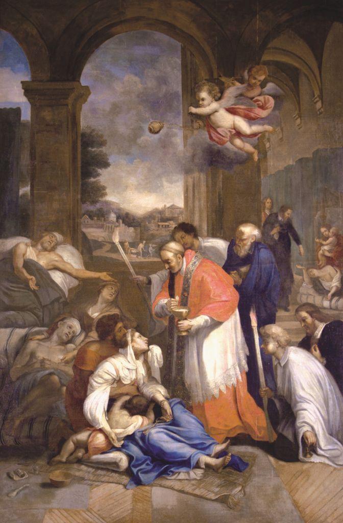 Saint charles borrom e administrant la communion aux for Piscine saint charles