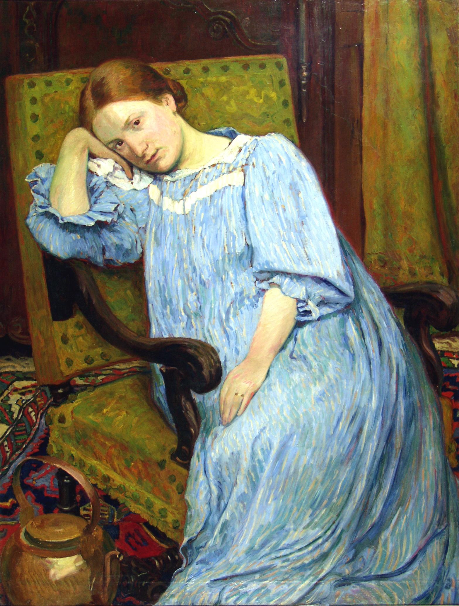 Oeuvre : Précisions - Portrait de la femme de l'artiste | Les Musées de  Narbonne