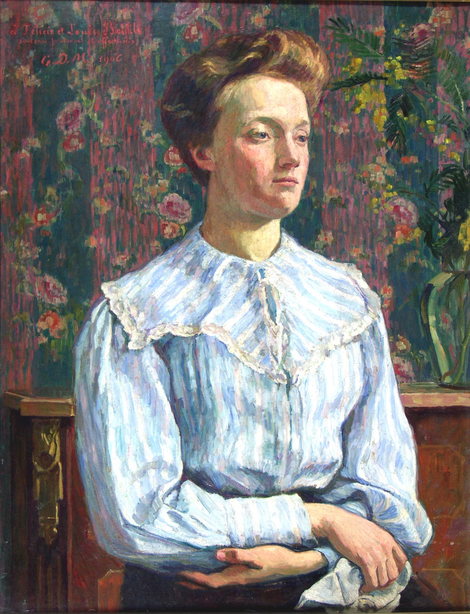 Oeuvre : Précisions - Portrait de Félicie Belfis | Les Musées de Narbonne