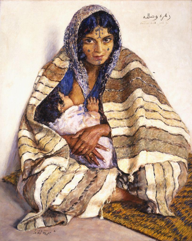 bédouine à la couverture zohra et salha - 2000.5.1