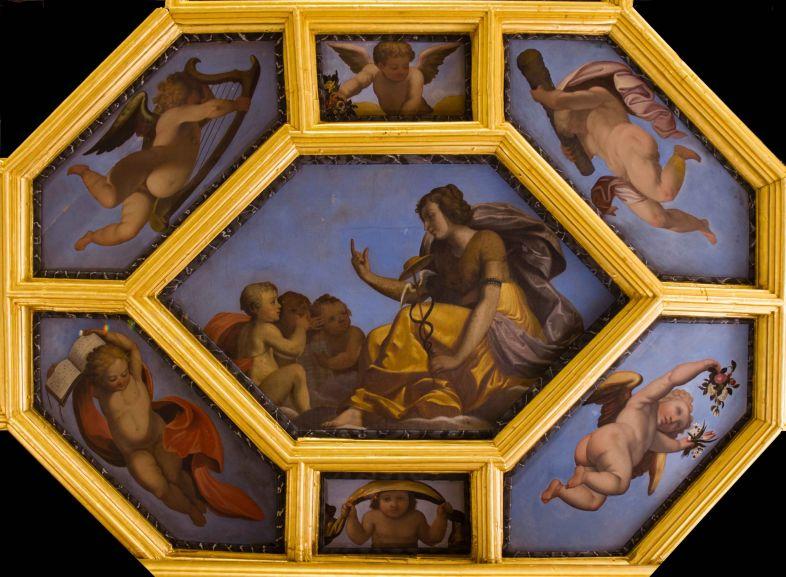 Mus e d 39 art et d 39 histoire plafond de la chambre du roi - Histoire des arts la chambre des officiers ...