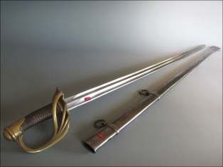 sabre ; fourreau