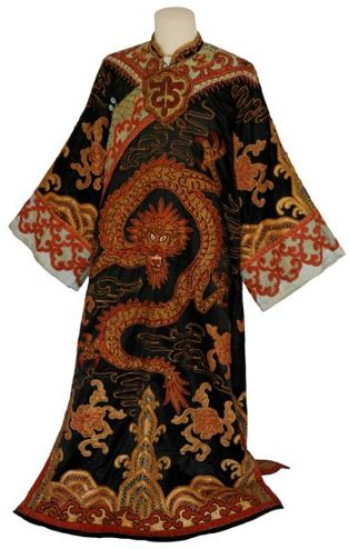 costume d'homme ; Robe d'empereur chinois (D 2009.1.1)