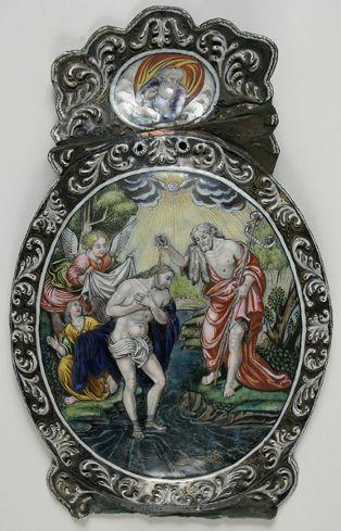 Bénitier ; Le baptême du Christ(1865.175.17 ; 861 (Inventaire A); P.R. J 48 (Catalogue ancien par matière); G.R. J 33 (2) (Catalogue ancien par matière); 2204 (Inventaire E))