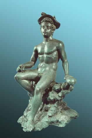 Figurine ; Figurine de Mercure en bronze(2009-1-34)