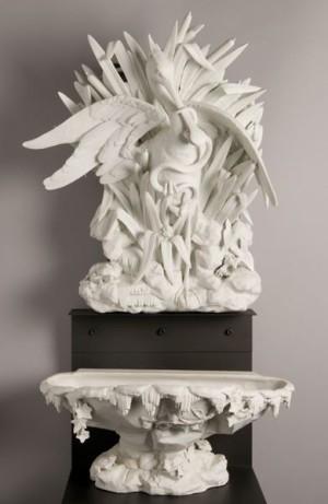Fontaine ; Fontaine à la spatule(D.996.22.3 (1 à 3) ; 1875.3.1 (n° musée de Bourges))