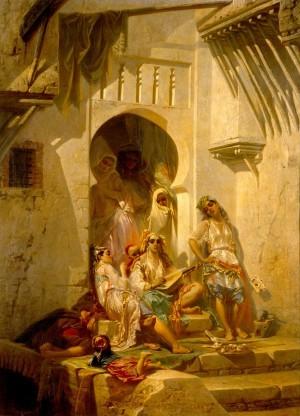 Femmes d'Alger, intérieur de cour(1860-1-1)