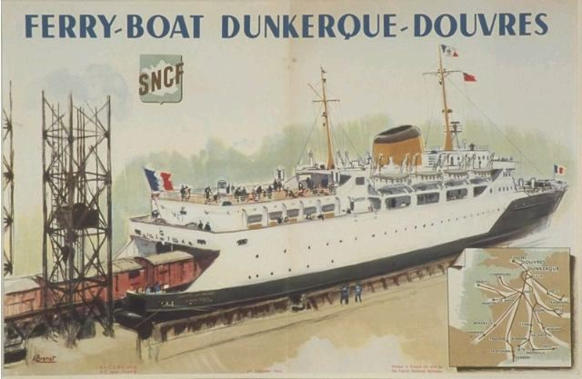 affiche, Ferry-boat Dunkerque-Douvres
